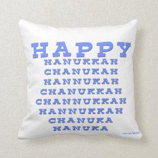 HAPPY HANUKKAH CHANUKAH HANUKKAH PILLOW