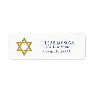 Happy Hanukkah Chanukah Holiday Address Labels
