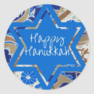 Happy Hanukkah Classic Round Sticker