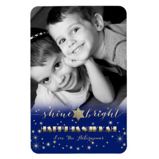 Happy Hanukkah. Customizable Gift Photo Magnets