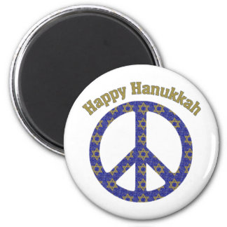 Happy Hanukkah Customizable GIfts and Tees 6 Cm Round Magnet