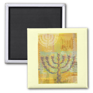 Happy Hanukkah Customizable GIfts and Tees Square Magnet