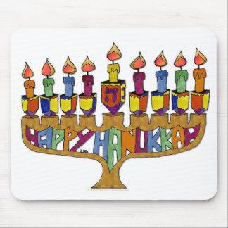 Happy Hanukkah Dreidels Menorah Mouse Pads