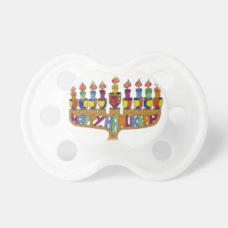Happy Hanukkah Dreidels Menorah Pacifier