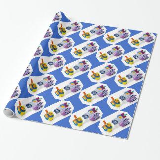 Happy Hanukkah Dreidls Gift Wrap