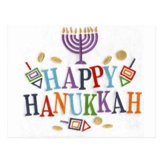 Happy Hanukkah Festive design Postcard