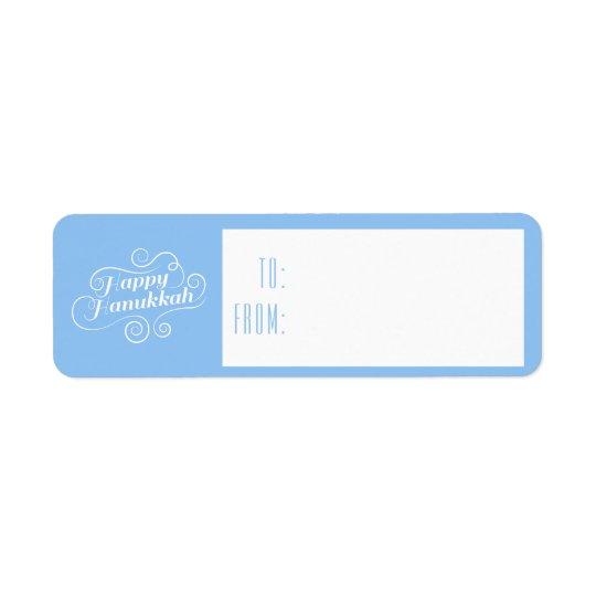 Happy Hanukkah Flourish Gift Tags Return Address Label