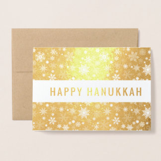 Happy Hanukkah Foil Card