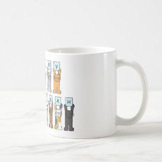 Happy Hanukkah for cat lovers. Basic White Mug