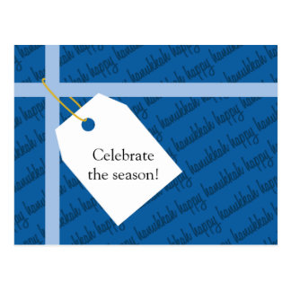 Happy Hanukkah Gift Postcard