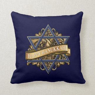 Happy Hanukkah Greeting Cushion