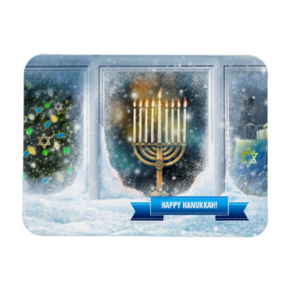 Happy Hanukkah. Hanukkah Gift Magnets