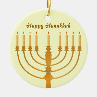 Happy Hanukkah Holiday Christmas Ornament