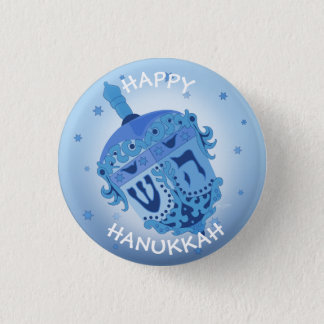 HAPPY HANUKKAH HOLIDAYS Small, 1¼ Inch 3 Cm Round Badge