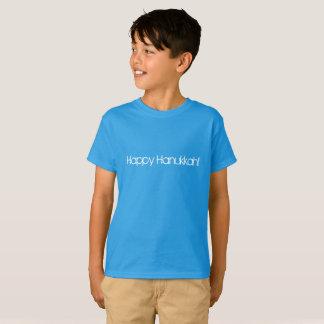 Happy Hanukkah in modern block style letters T-Shirt