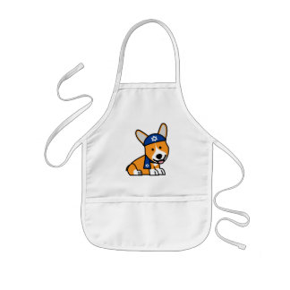 Happy Hanukkah Jewish Corgi Corgis Dog Puppy Kids Apron