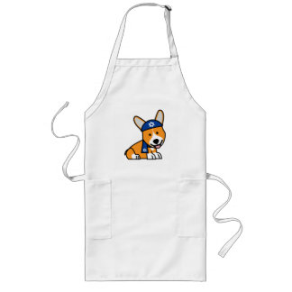 Happy Hanukkah Jewish Corgi Corgis Dog Puppy Long Apron