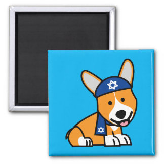 Happy Hanukkah Jewish Corgi Corgis Dog Puppy Magnet