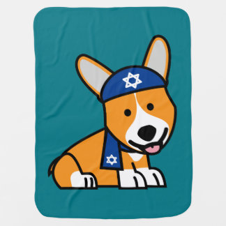 Happy Hanukkah Jewish Corgi Corgis Dog Puppy Pramblankets