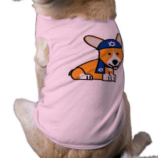 Happy Hanukkah Jewish Corgi Corgis Dog Puppy Sleeveless Dog Shirt