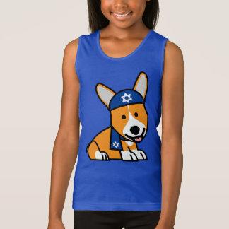 Happy Hanukkah Jewish Corgi Corgis Dog Puppy Tank Top