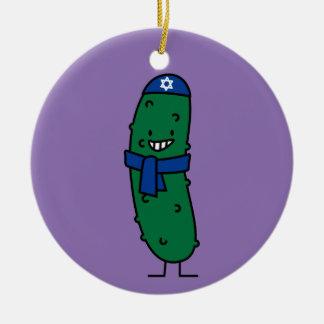 Happy Hanukkah Jewish Pickle Pickles Christmas Ornament