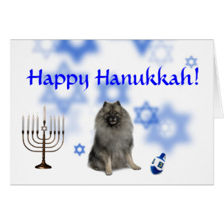 Happy Hanukkah Keeshond Card