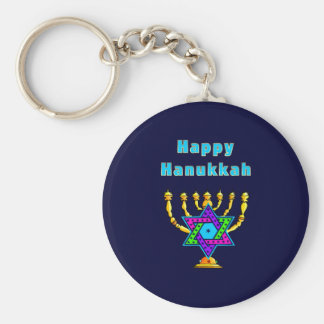 Happy Hanukkah Key Ring