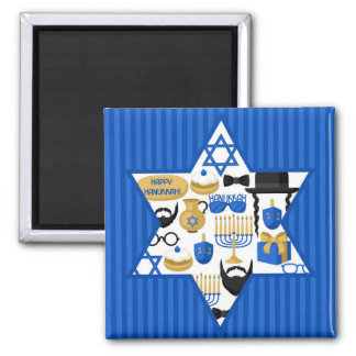 Happy Hanukkah Magnet