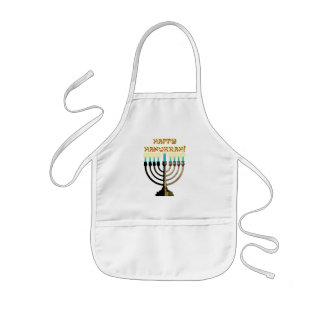 Happy Hanukkah Menorah Child's Apron