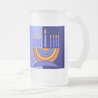 Happy Hanukkah! Menorah Design Gift Mug
