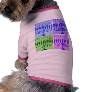 Happy Hanukkah Menorah Pet Shirt