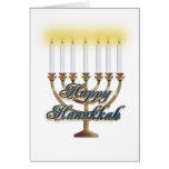 Happy Hanukkah menorah greeting card