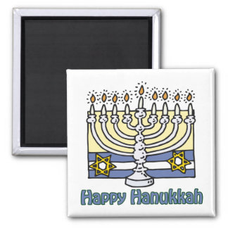 Happy Hanukkah Menorah Magnets