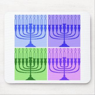 Happy Hanukkah Menorah Mouse Pads