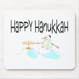 Happy Hanukkah Menorah Mousepads
