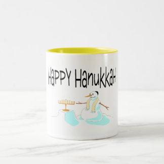Happy Hanukkah Menorah Coffee Mugs