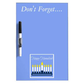 Happy Hanukkah Menorah Personalized Dry Erase Board