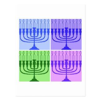 Happy Hanukkah Menorah Postcard