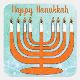 Happy Hanukkah Menorah Stickers