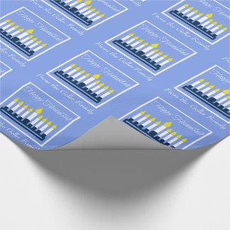Happy Hanukkah Menorah Wrapping Paper