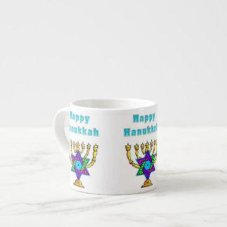 Happy Hanukkah Espresso Mug