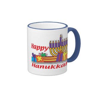 Happy Hanukkah Ringer Mug