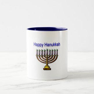 Happy Hanukkah Two-Tone Coffee Mug