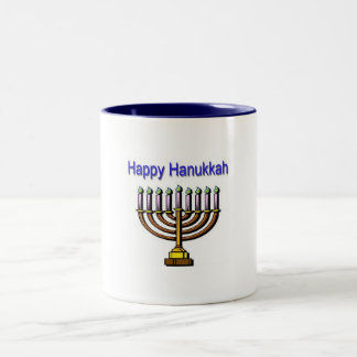 Happy Hanukkah Two-Tone Mug