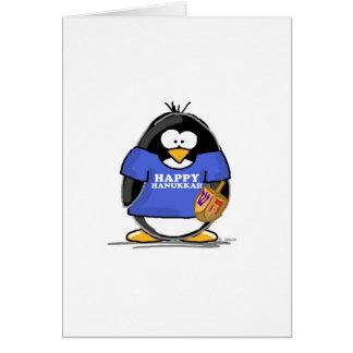 Happy Hanukkah Penguin Card