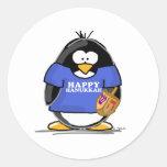Happy Hanukkah Penguin Stickers