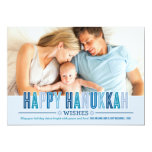 Happy Hanukkah Photo Card | Shades of Blue Personalised Invite