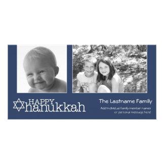 Happy Hanukkah - Photo Collage Personalised Photo Card