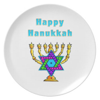 Happy Hanukkah Plate